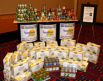 Sunshine Division food donations