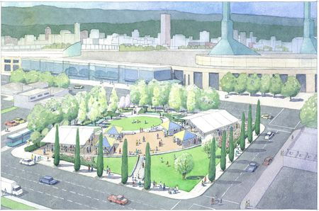 Artist rendering of OCC Plaza