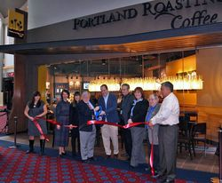 Portland Roasting ribbon cutting