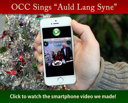 OCC Sings Auld Lang Syne